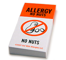 Food Allergy Warning Notes