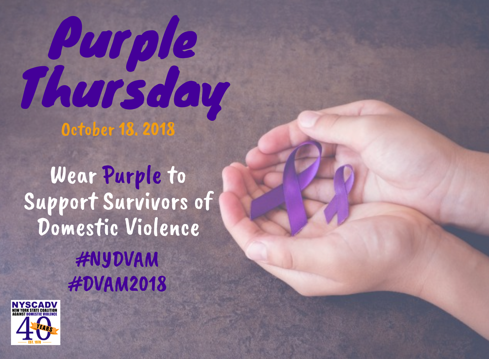 DVAM Purple Thursday