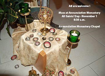 All Saints' Day Mass - Nov. 1 - 8:30 a.m.