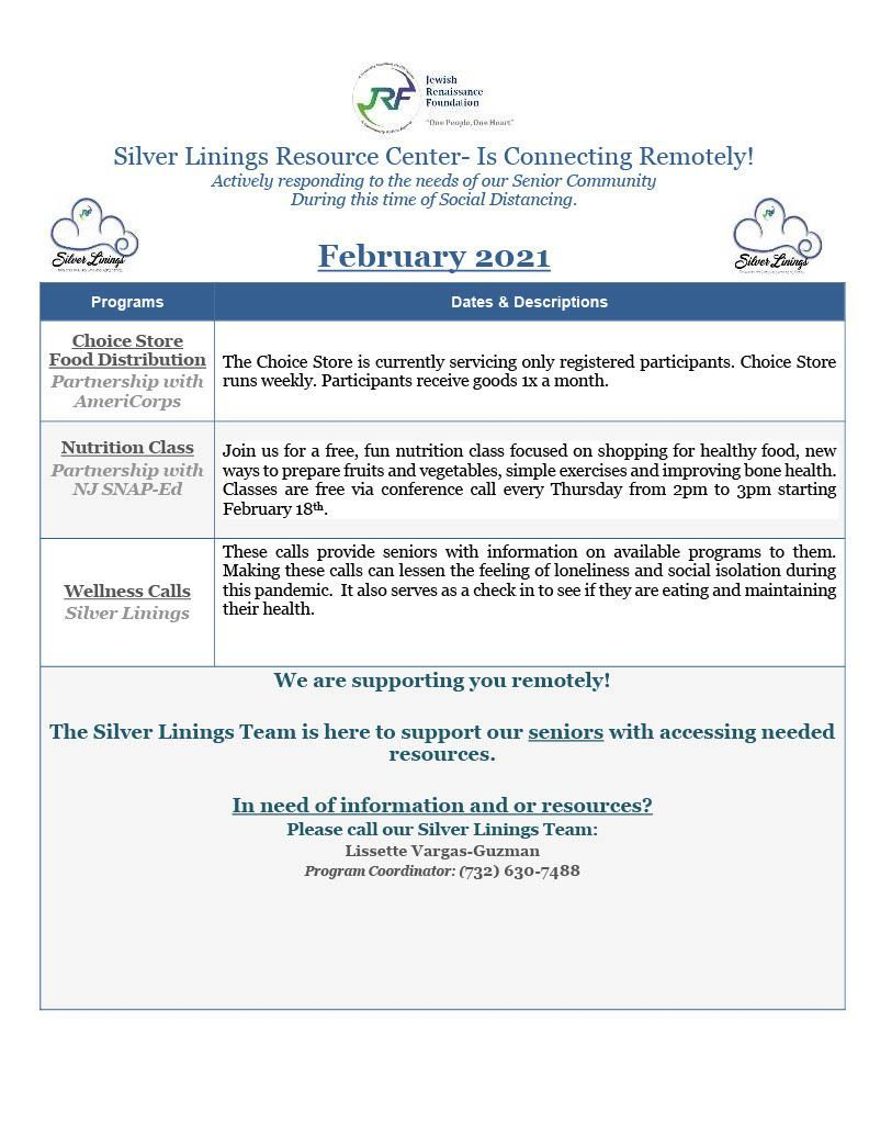 Silver Linings Resource Center Feb 2021