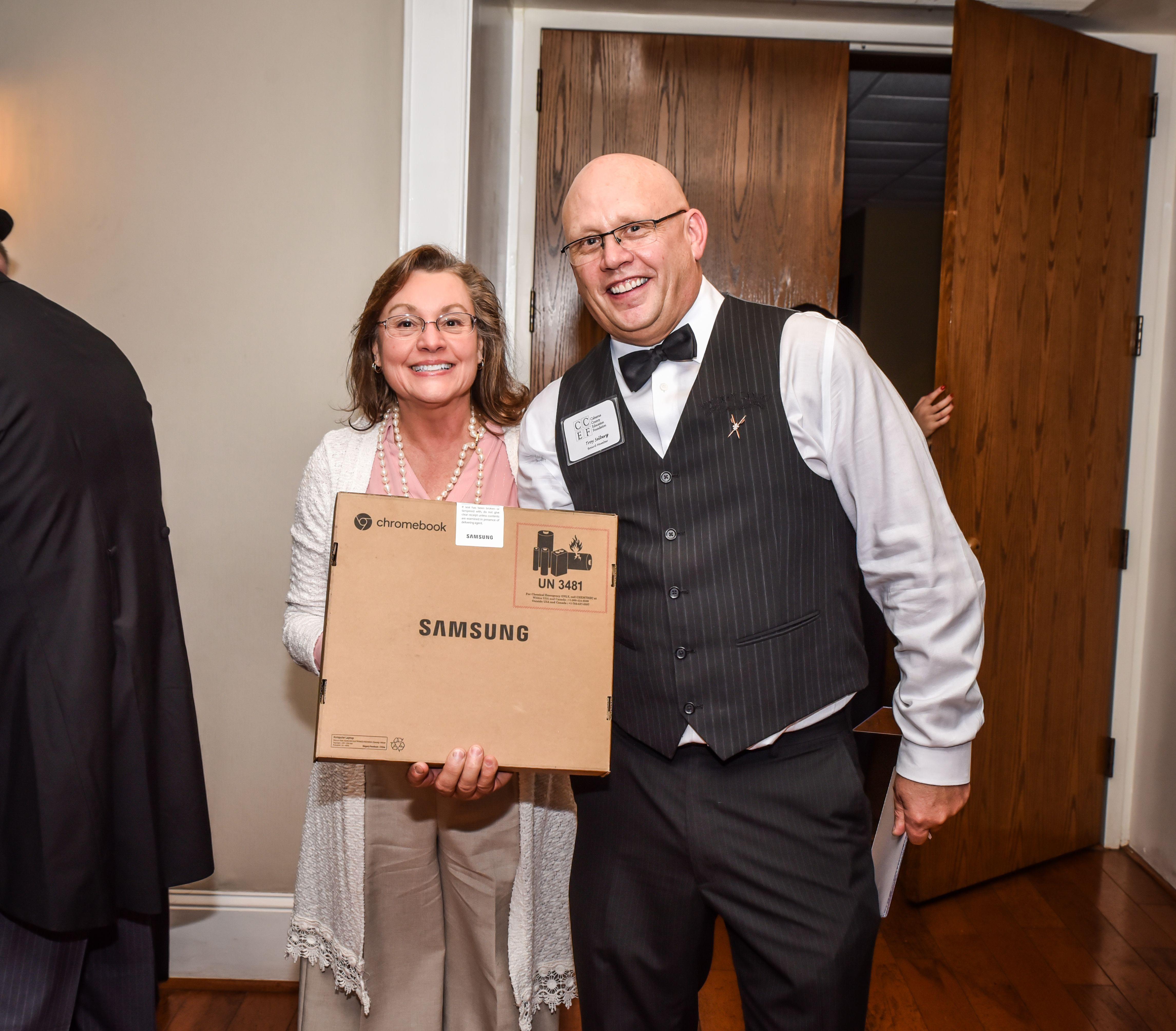 Pam Wilkerson Winning Laptop