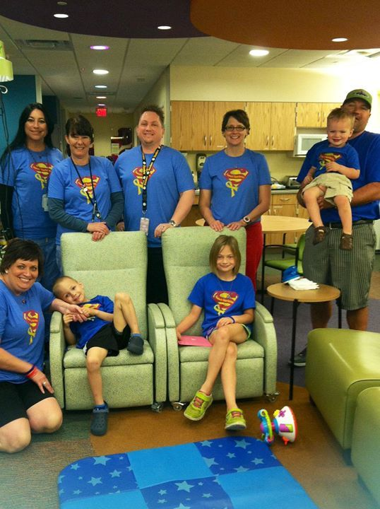 Our Infusion Center friends are Sammy's Superheroes!! We love them.