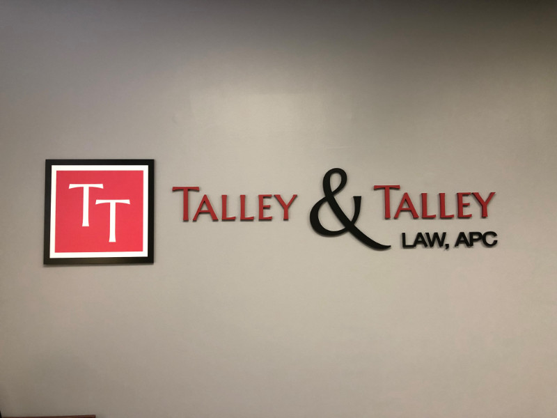 Lobby Signs for Law Firms in Laguna Hills CA