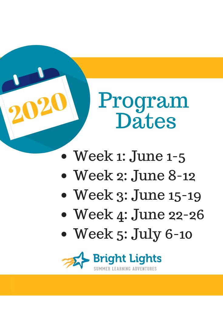 All Set: 2020 Registration Date, Program Weeks and More