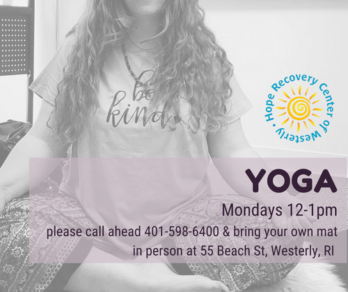 Hope Recovery Westerly - In-Person Yoga