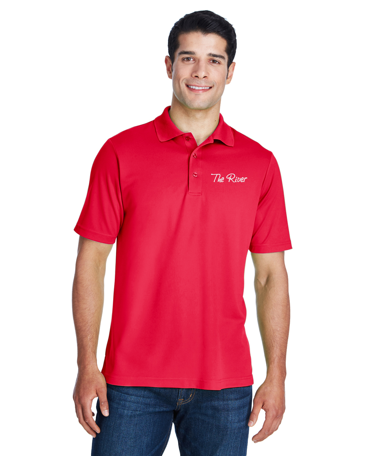 88181 Core 365 Men's Origin Performance Piqué Polo Classic Red