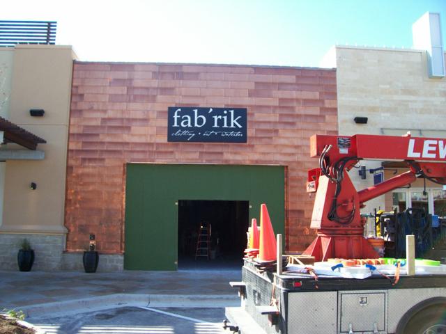 Fabrik- Manufacture & Installation