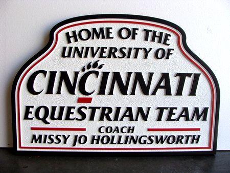 P25208 - Equestrian Team Sandblasted HDU Sign for Horse Shows