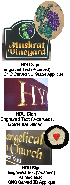 Engrave and V-Carved HDU and Wood Signs