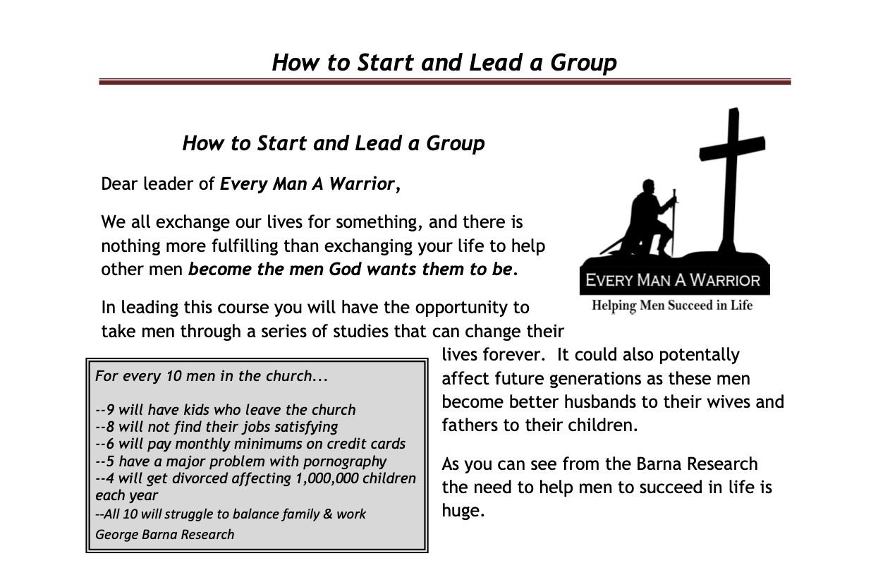 How to Start and Lead a Group