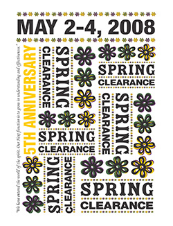 Spring Clearance 2008: No Theme (graphic only)