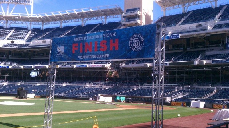 Finish Line Banner and Infrastructure