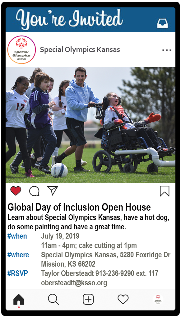Special Olympics Kansas Global Day of Inclusion Open House