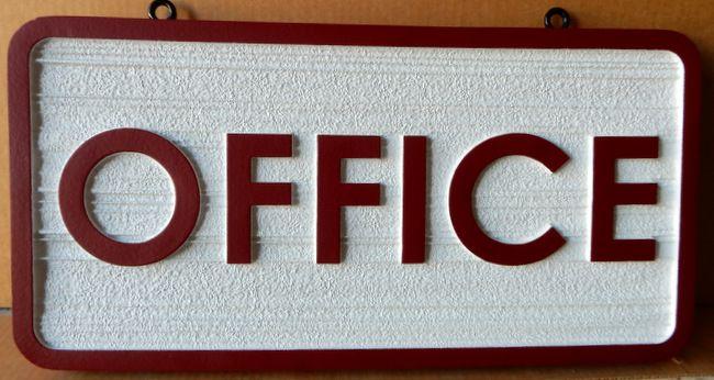 KA20518 - Carved Wood Grain HDU Sign for Office