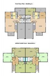 First & Upper Floor Plan - Building A