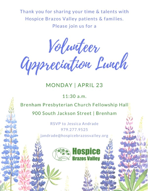 Brenham Volunteer Appreciation Lunch
