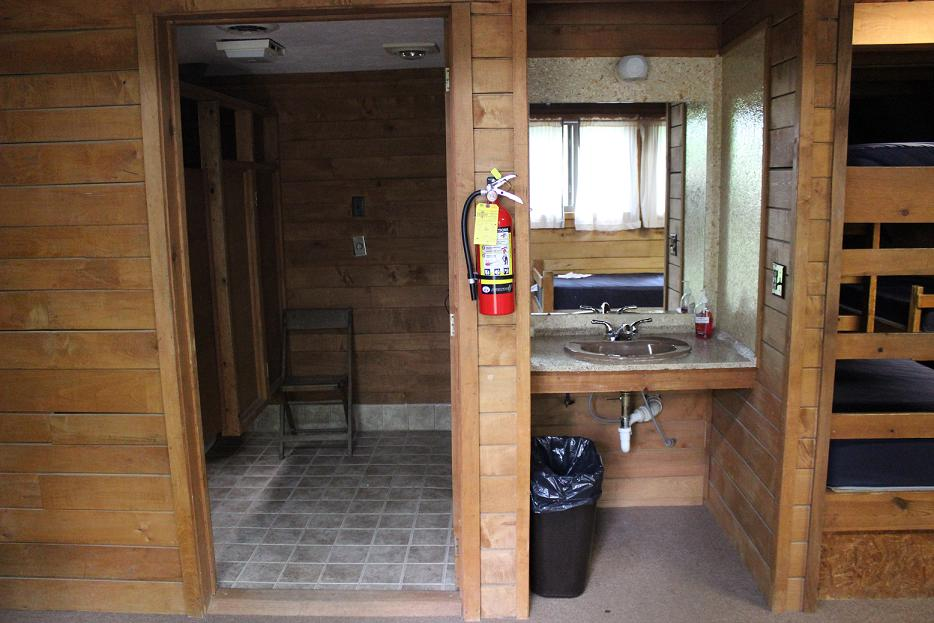 A-Frame Cabin Bathroom & Sink Area
