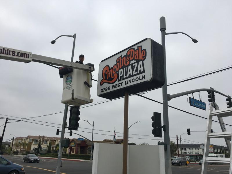 New Pylon Sign Facing Anaheim CA