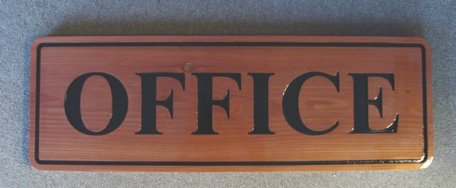 M3640 - Engraved Cedar Office Sign (Gallery 19A)