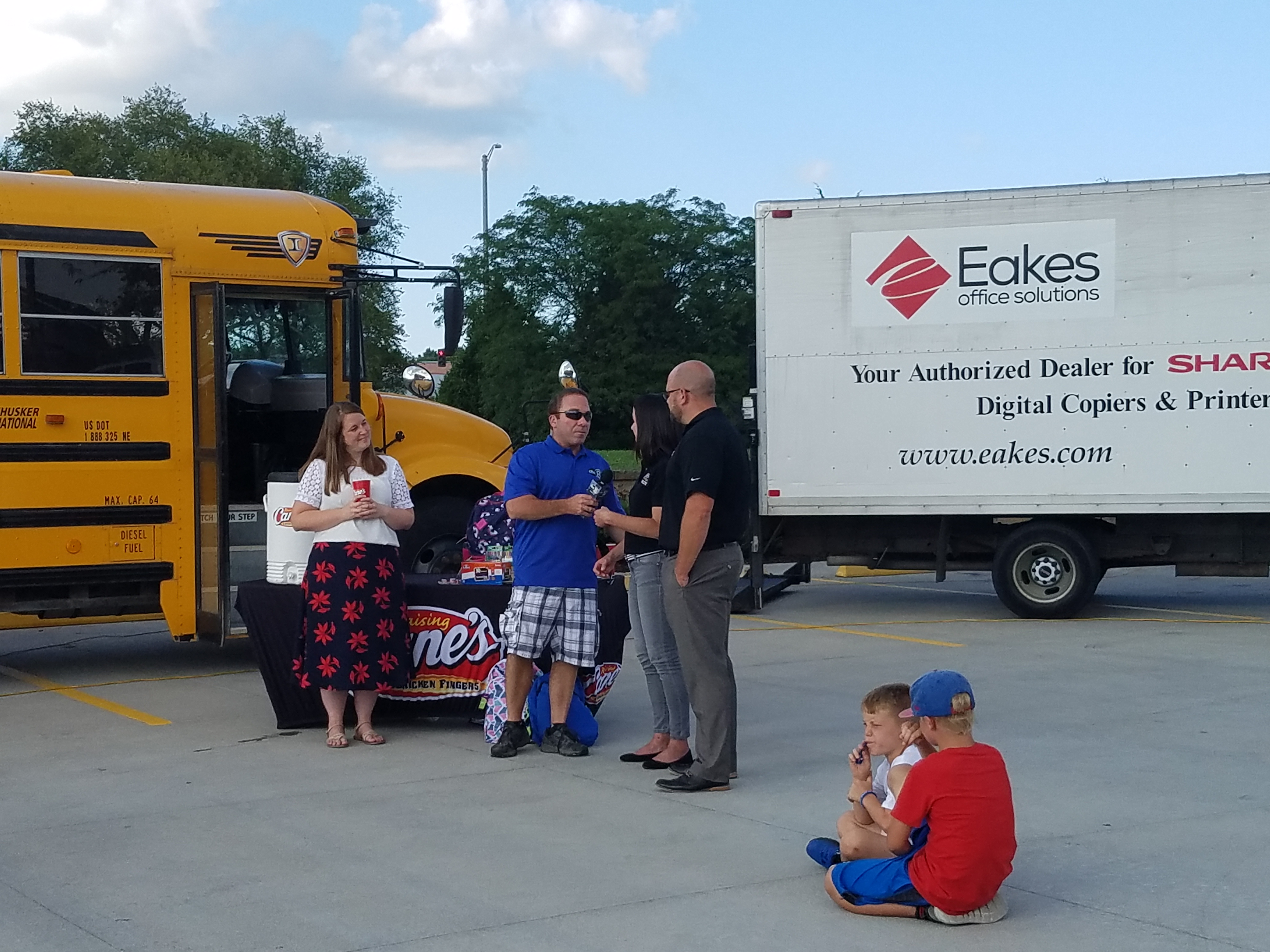 Eakes & Raising Cane's Team Up for Stuff the Bus