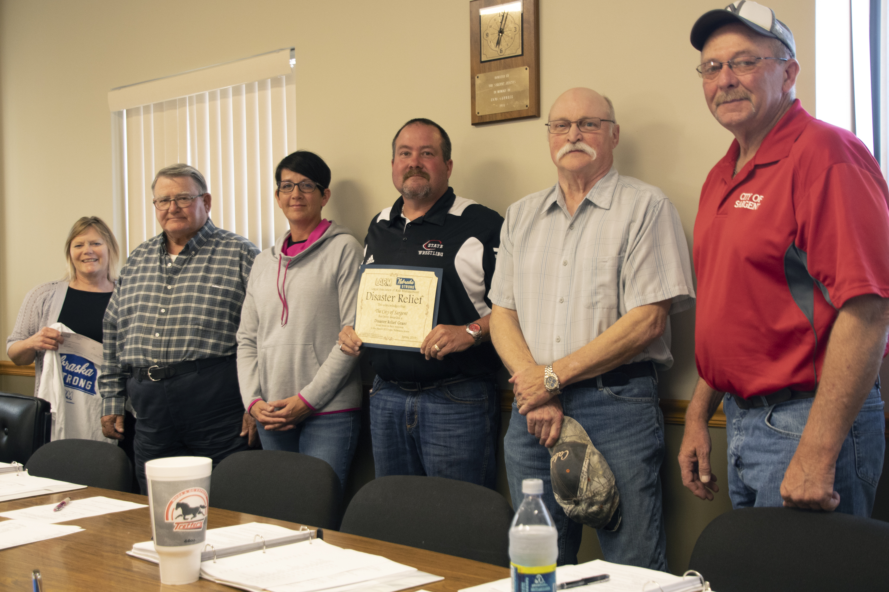 The City of Sargent awarded $500 in Disaster Relief Funds