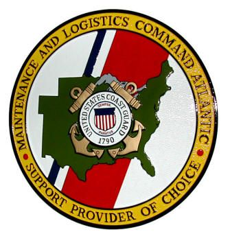 V31973 - Coast Guard Wooden Wall Plaque of the Crest  for Maintenance & Logistics Command