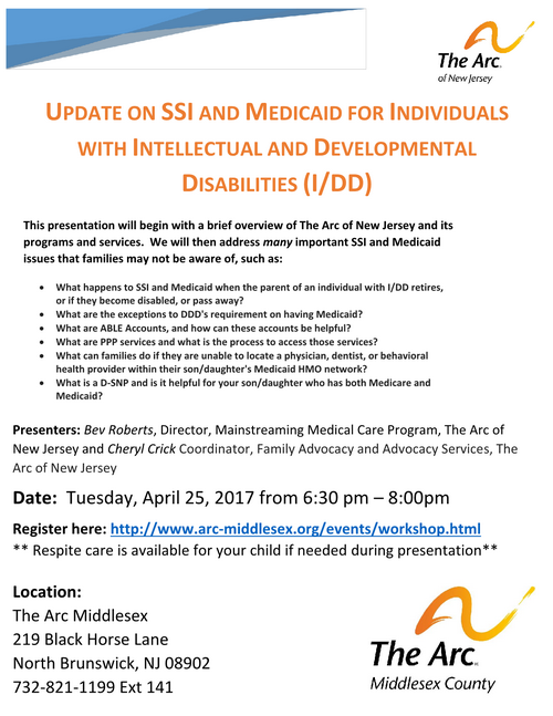 Free Workshop: SSI & Medicaid Presentation