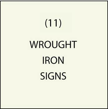 M7600 - (10)  Wrought Iron Signs