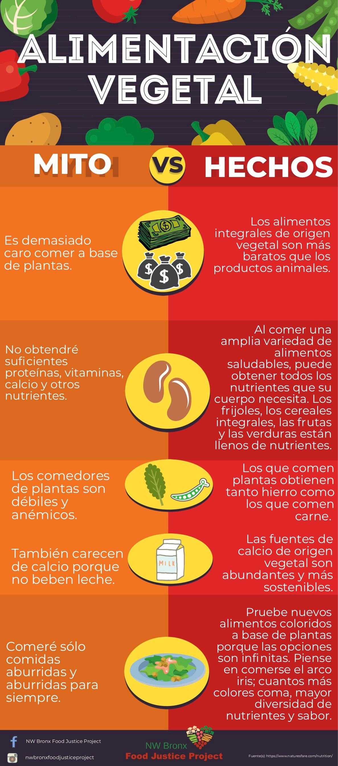 Mito de la alimentación basada en plantas versus hechos