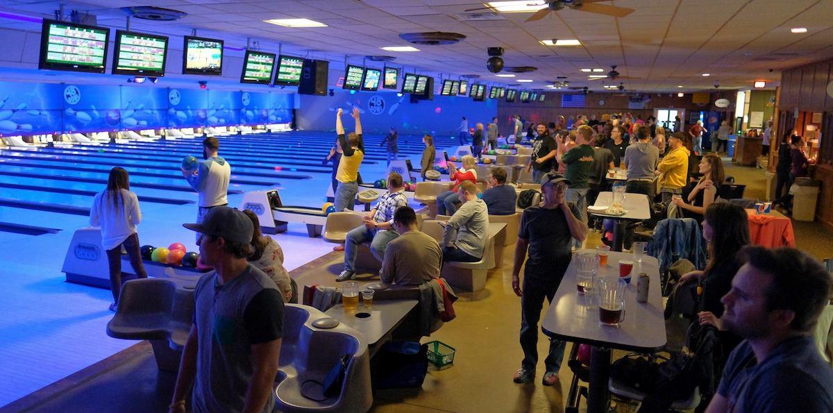 company culture bowling event