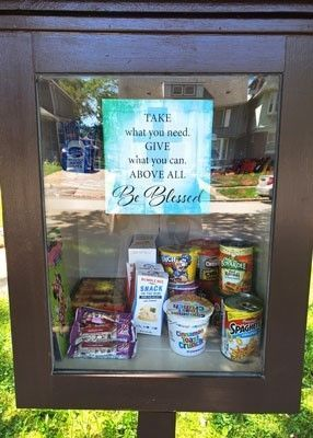 Sisters Build a Neighborhood Blessing Box