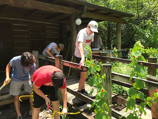 Eagle Scout Project to Replace Cabin Ramp