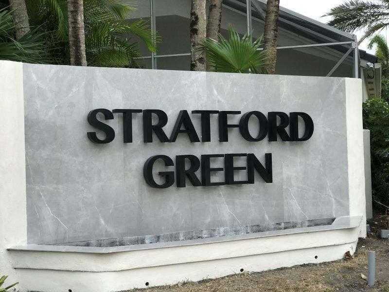 Community Entrance Sign Refurbishment in Boca Raton - Sign Partners - Sign Company