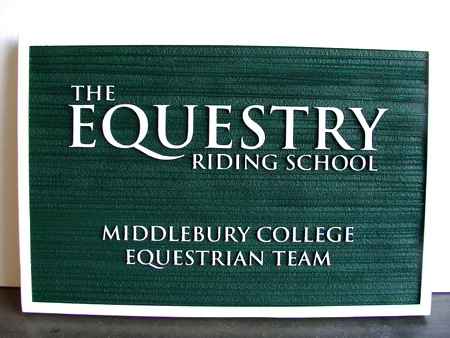 P25051 - Equestrian Riding School Sandblasted HDU Sign