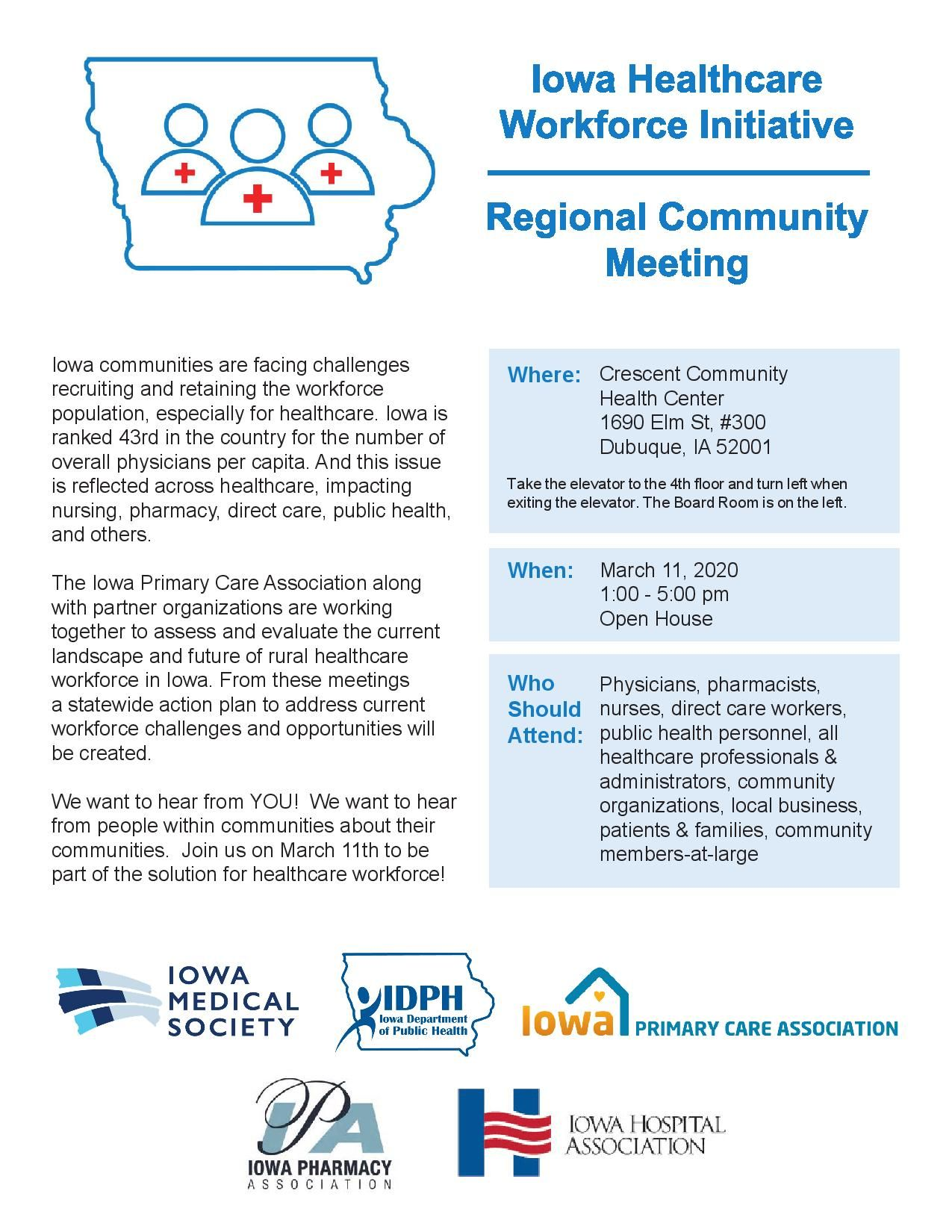 Iowa Healthcare Workforce Initiative: Regional Community Meeting
