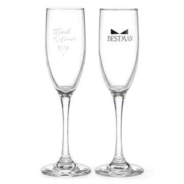Maid of Honor & Best Man Flutes