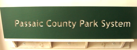 G16239 - New Jersey County Park Sign, made from Western Red Cedar