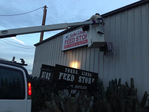 Illuminated cabinet signs Orange County
