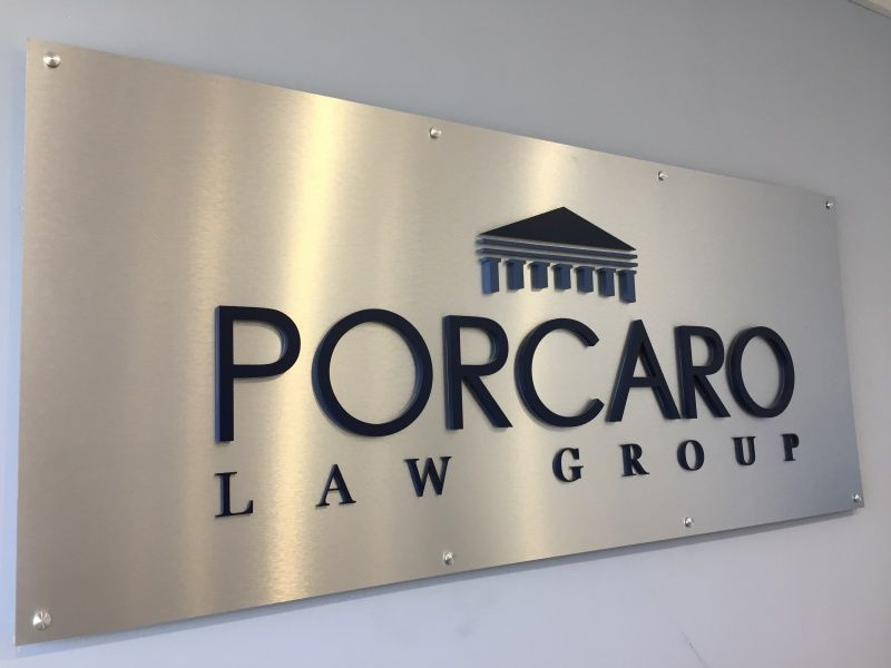 Panel Sign for Reception