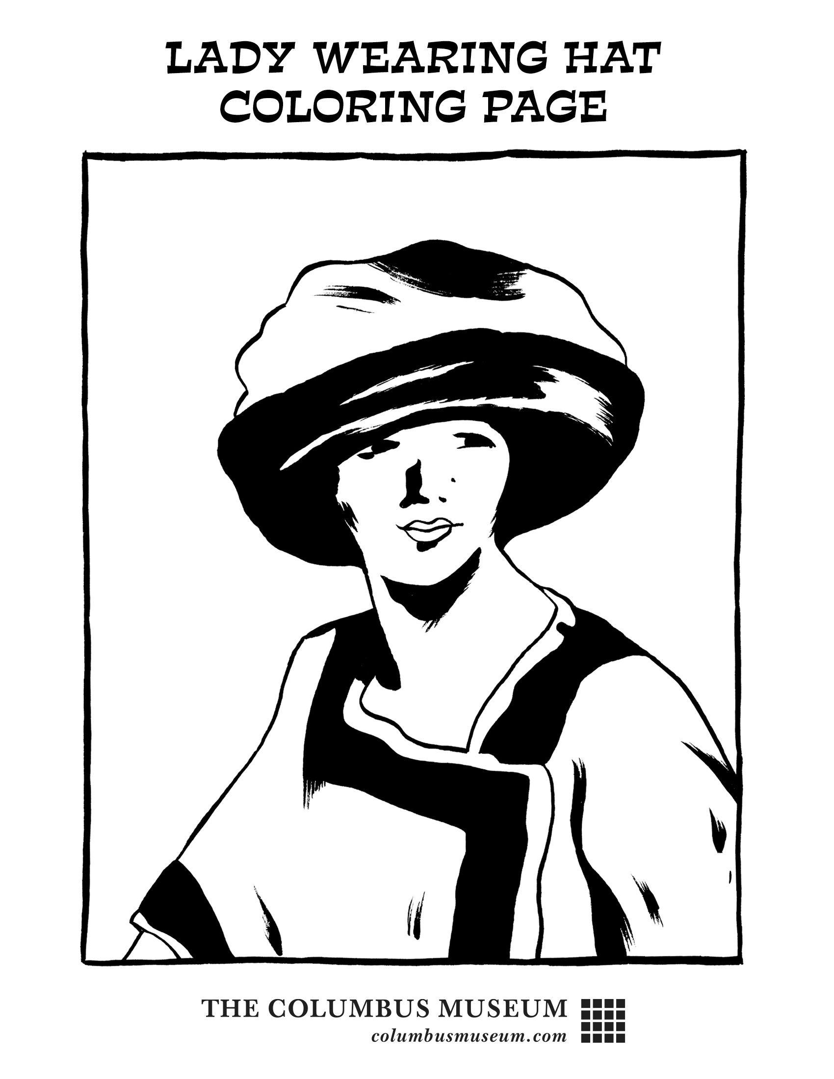 Lady Wearing a Hat