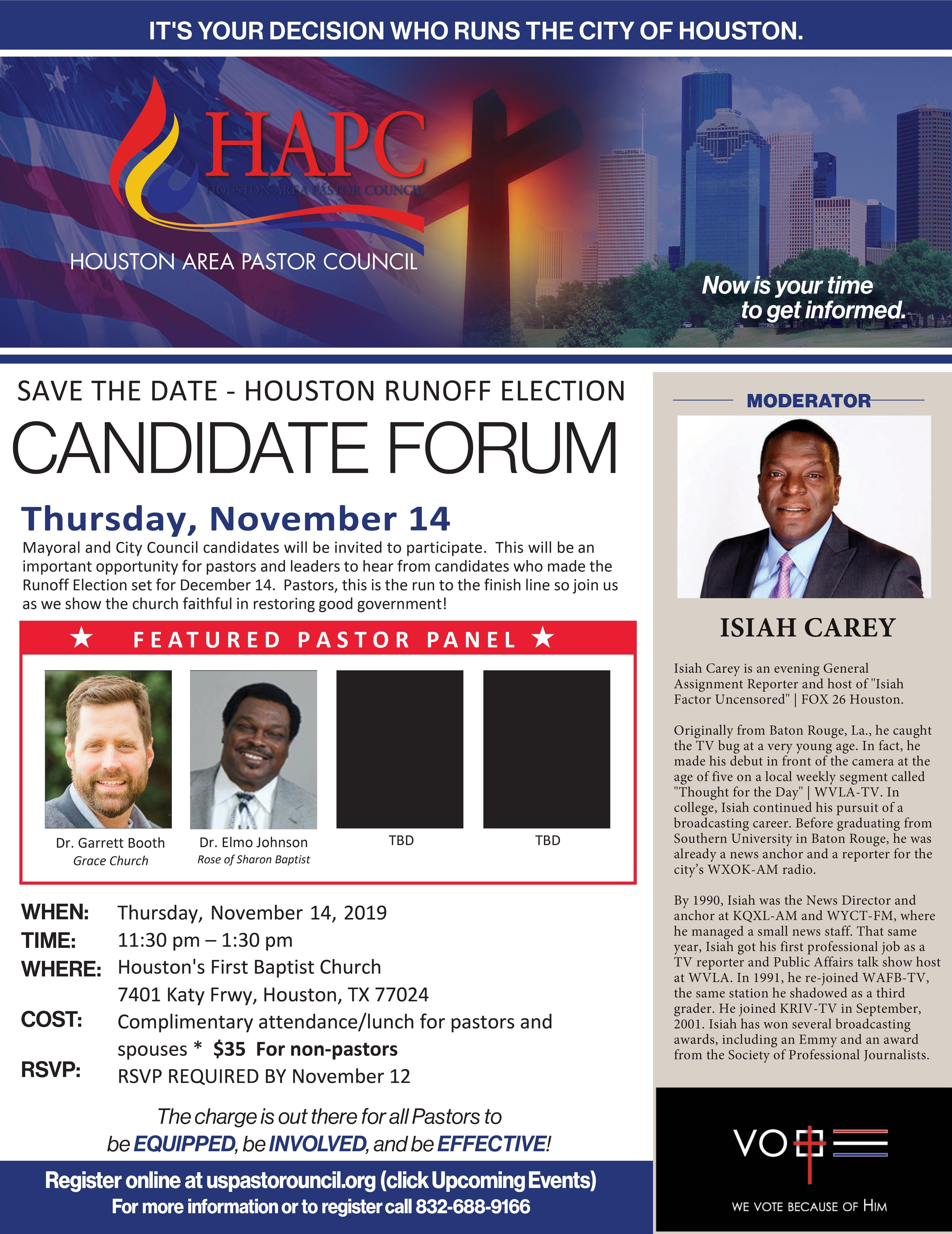 2019 Houston Runoff Candidate Forum