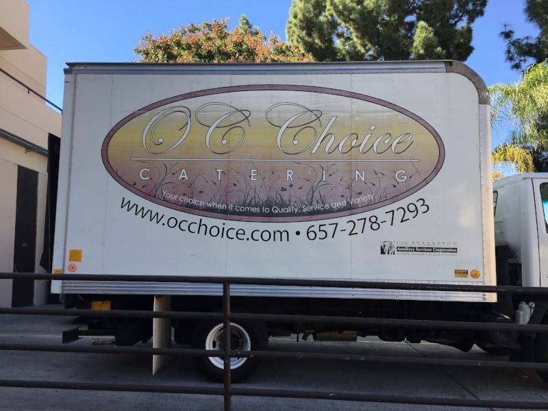 Catering Delivery Truck Graphics Orange County CA