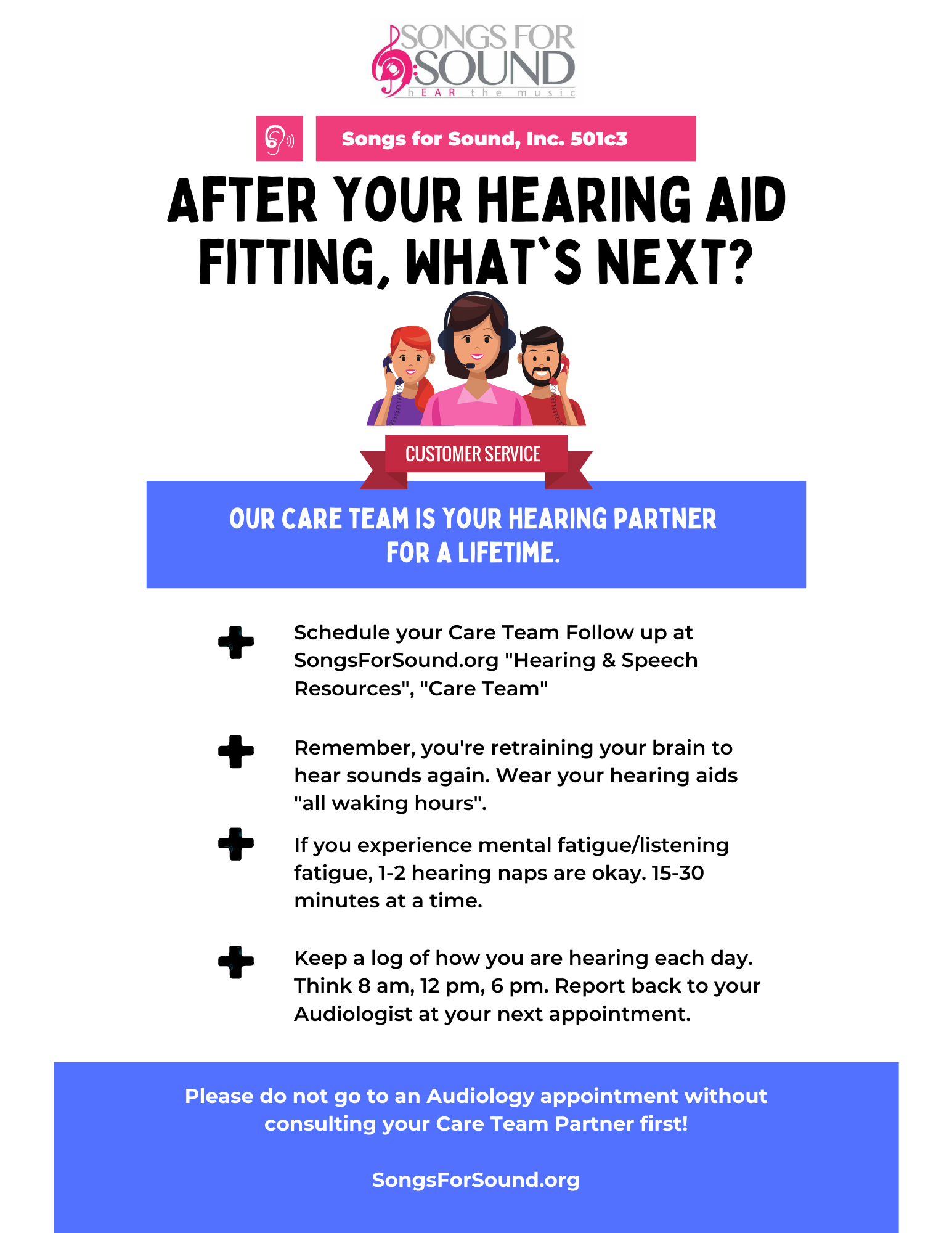 Care Team Support: After My Hearing Aid Fitting