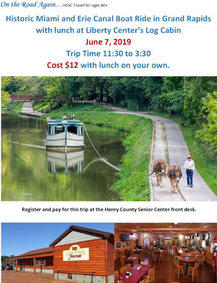 June 7 Historic Miami and Erie Canal Trip