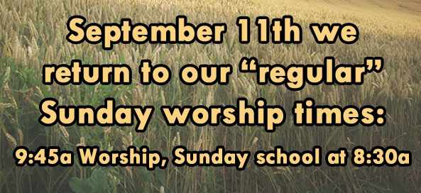 Regular Worship Hours 2016