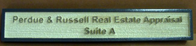 C12482 - Carved and Sandblasted HDU Real Estate Appraisal Wall Sign