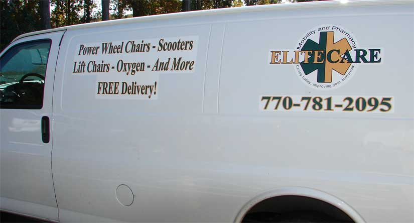 Vehicle Graphics on Cargo Van