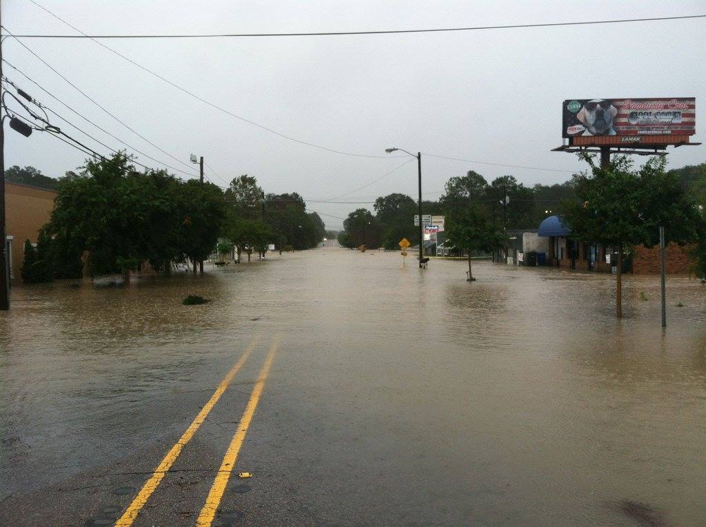 What happened with Gills Creek during the historic rain?