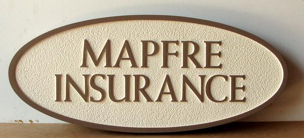 C12505 - Sandblasted HDU Insurance Broker Sign