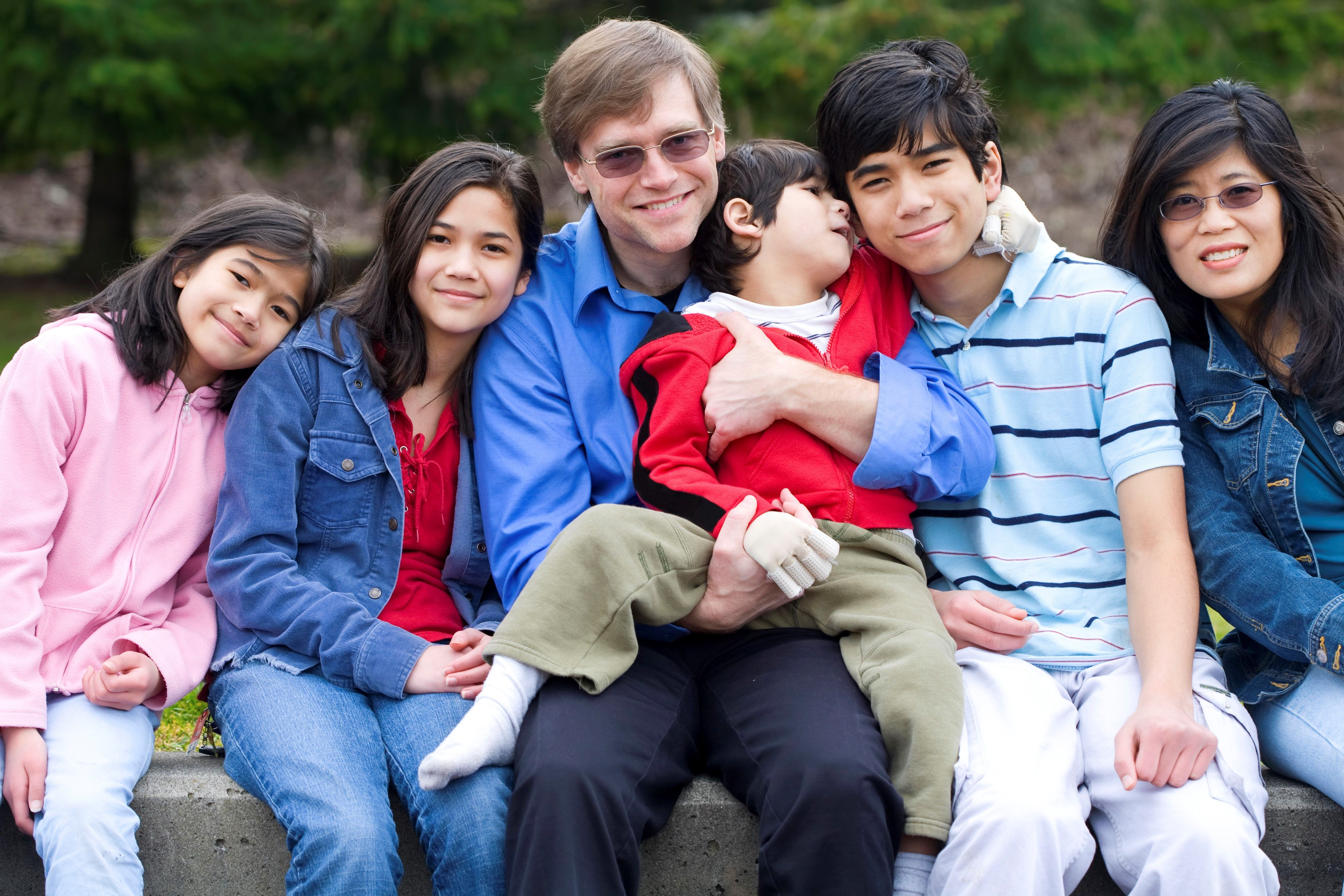 Family with a young child who has a developmental disability.